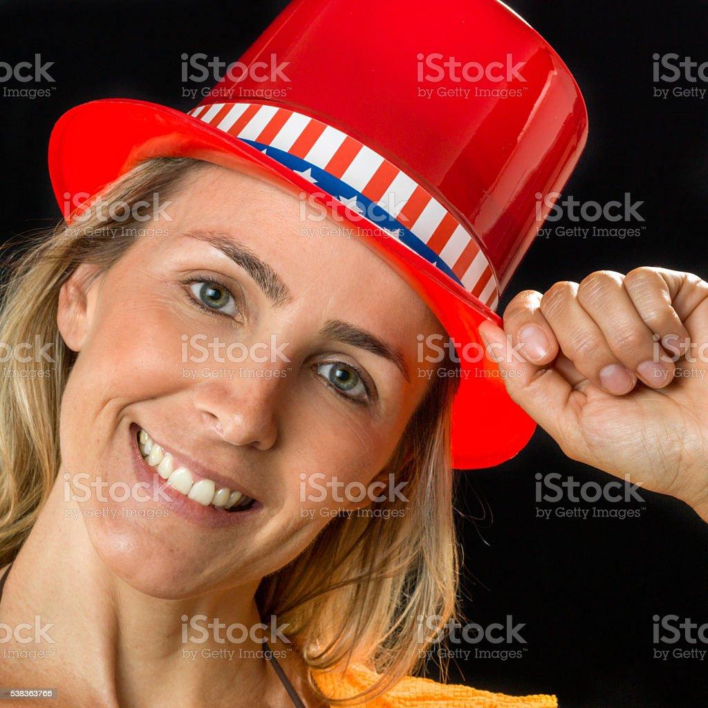Patriotic Lady stock photo