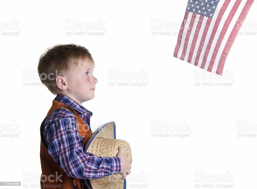 Patriotic Little  Cowboy royalty-free stock photo