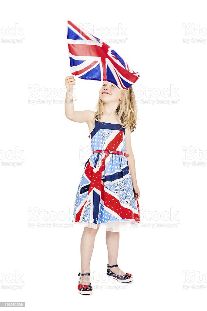 Patriotic Little Girl royalty-free stock photo