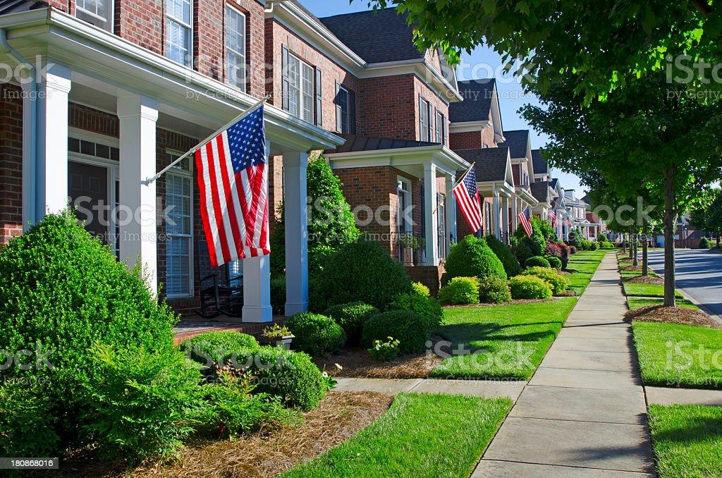 Patriotic Neighborhood stock photo