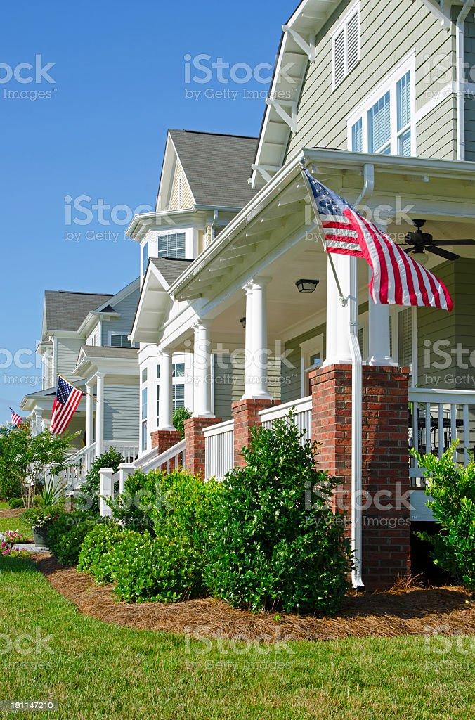 Patriotic Neighborhood royalty-free stock photo
