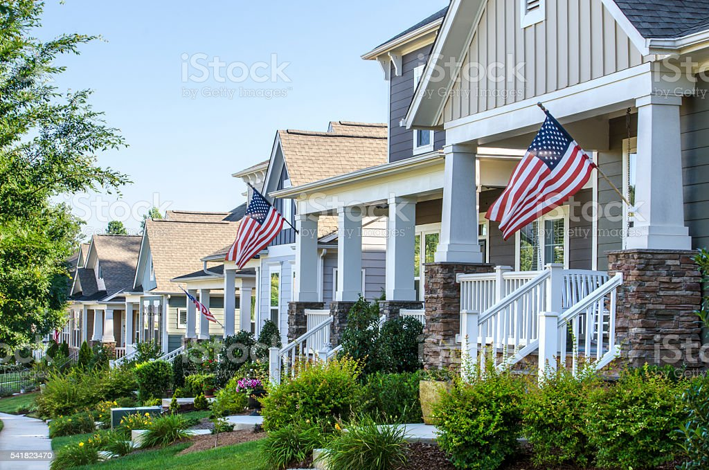 Patriotic Neighborhood stock photo