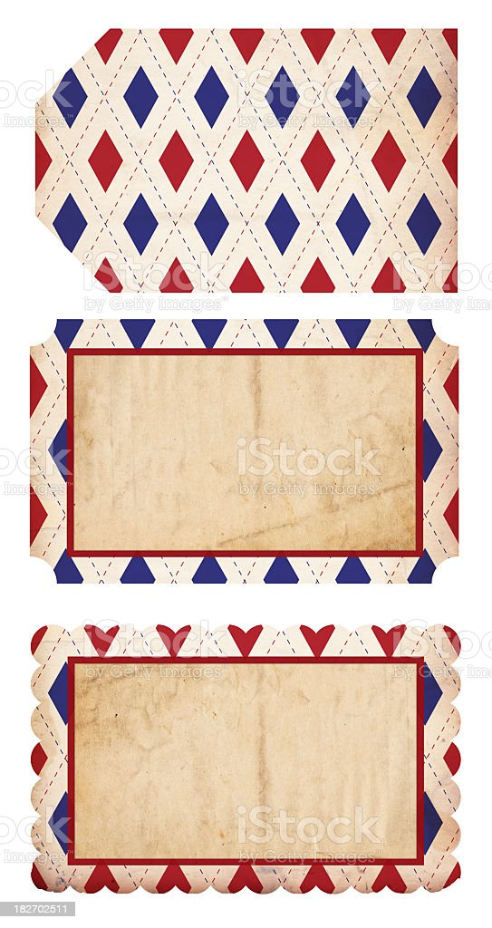 Patriotic Paper Tags - XXXL royalty-free stock photo