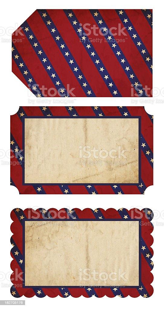 Patriotic Paper Tags - XXXL royalty-free stock photo