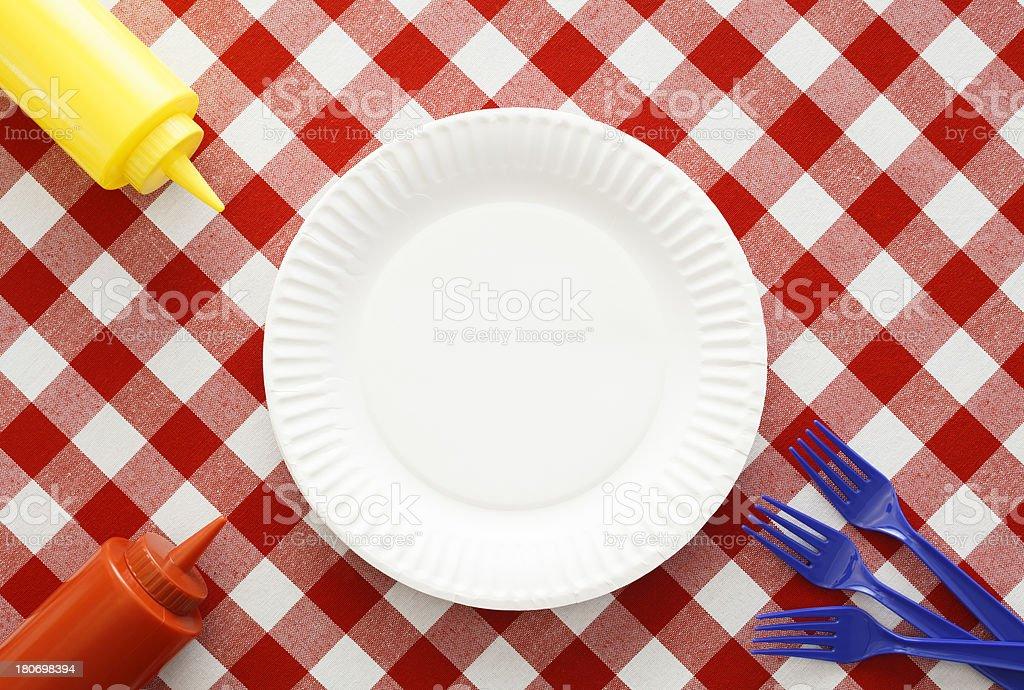 Patriotic Picnic Setting stock photo