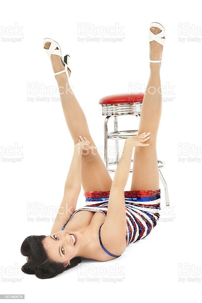 Patriotic Pin-up Girl royalty-free stock photo