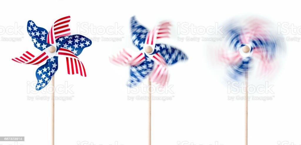 Patriotic Pinwheels stock photo