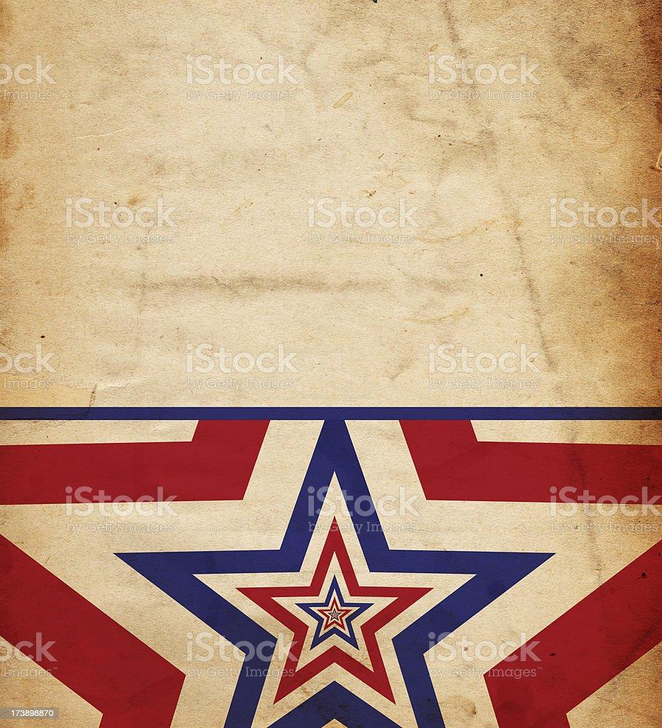 Patriotic Repeating Star Paper XXXL royalty-free stock photo