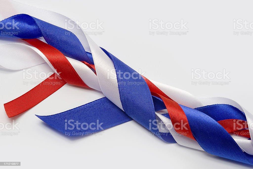 Patriotic ribbons stock photo
