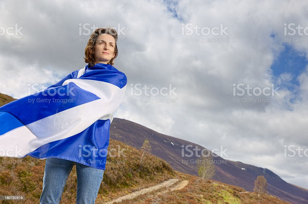 Patriotic Scotland stock photo