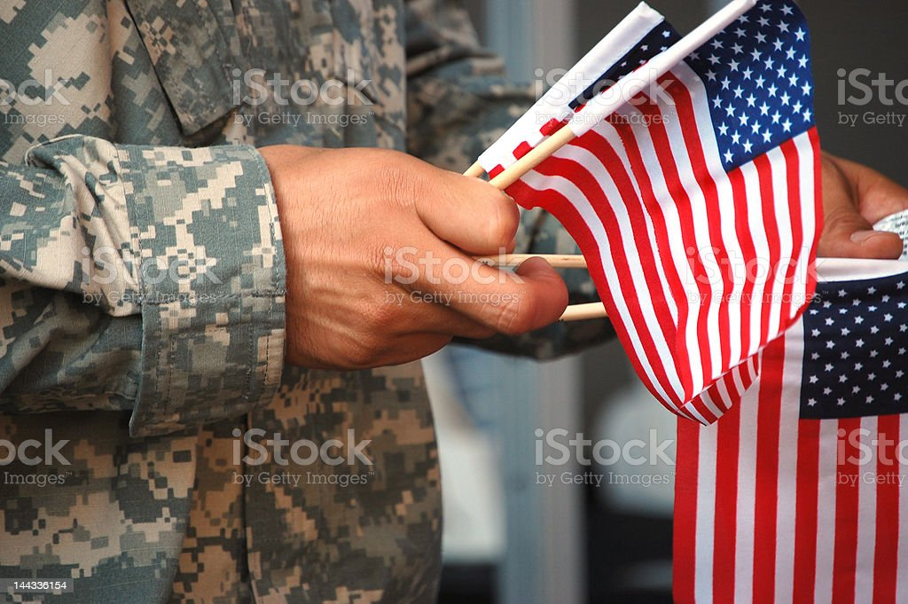 Patriotic Soldier stock photo