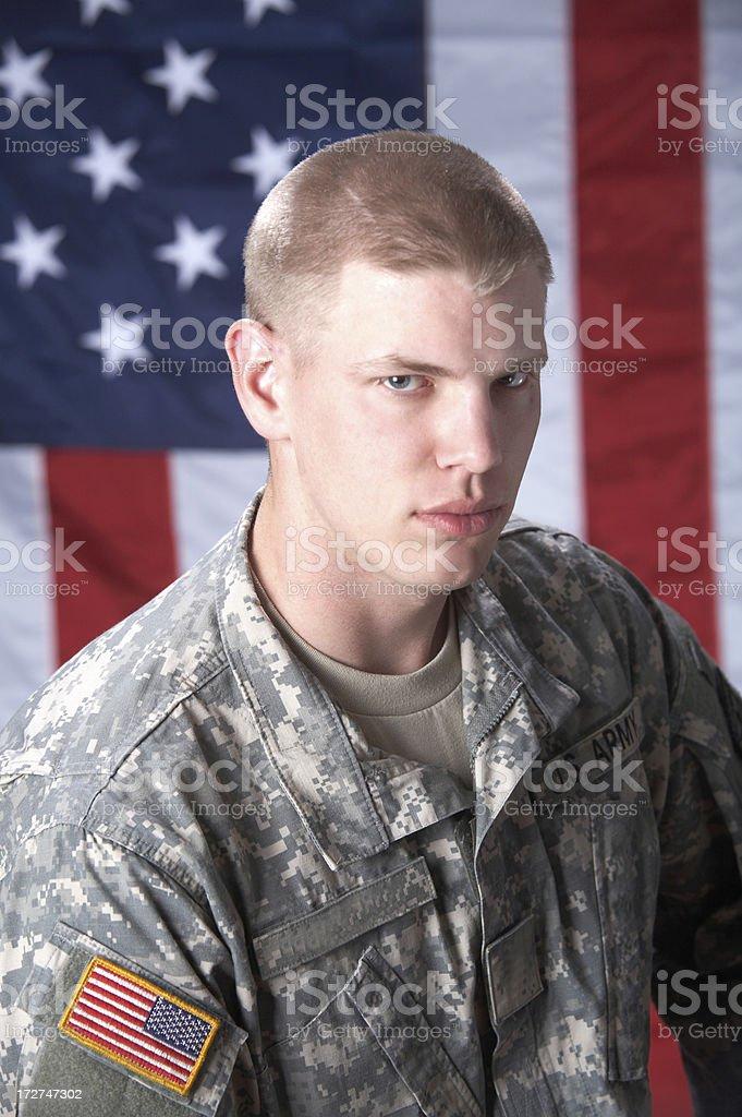 Patriotic soldier royalty-free stock photo