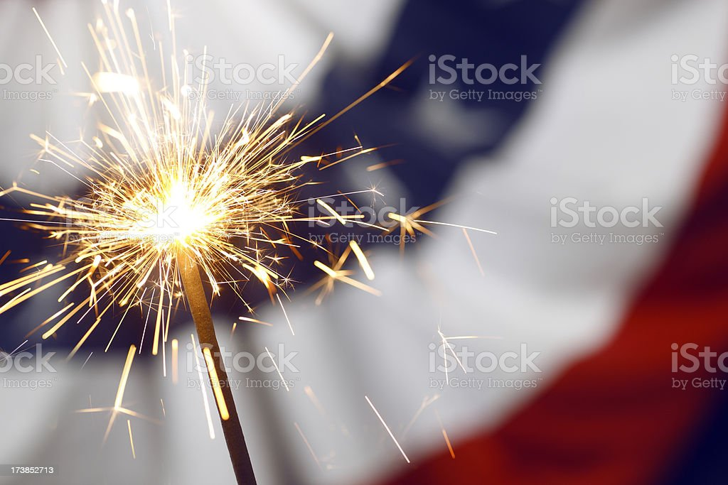 Patriotic Sparklers stock photo