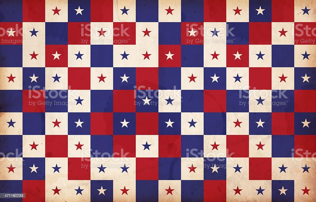 Patriotic Squares XXXL royalty-free stock photo