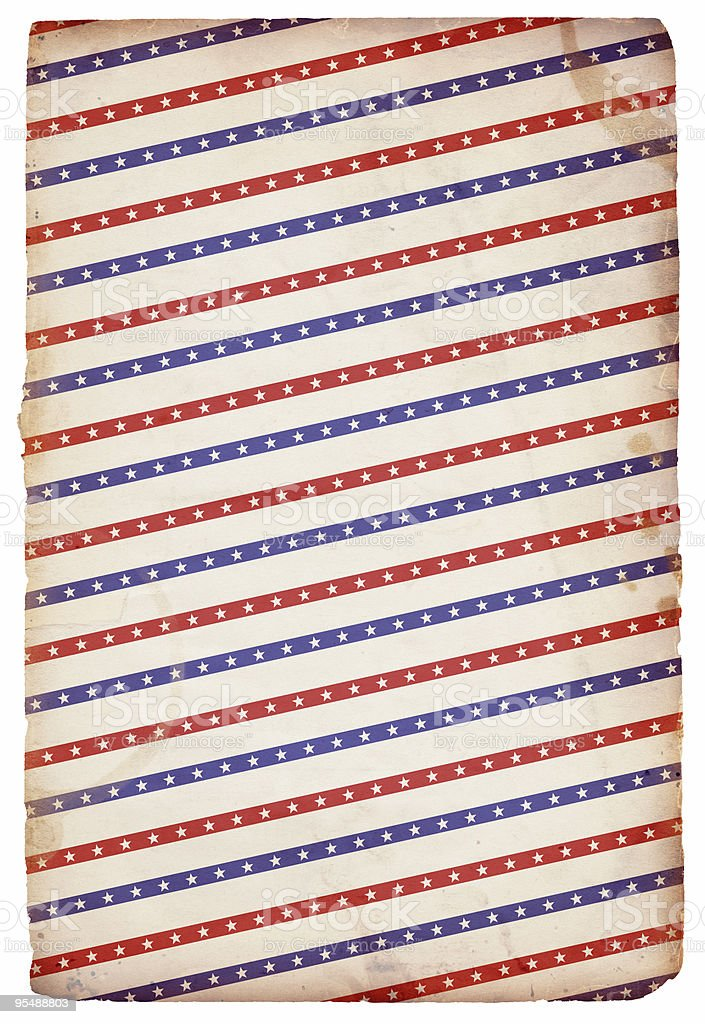 Patriotic Star and Stripes Background: XXXL Grunge Paper stock photo