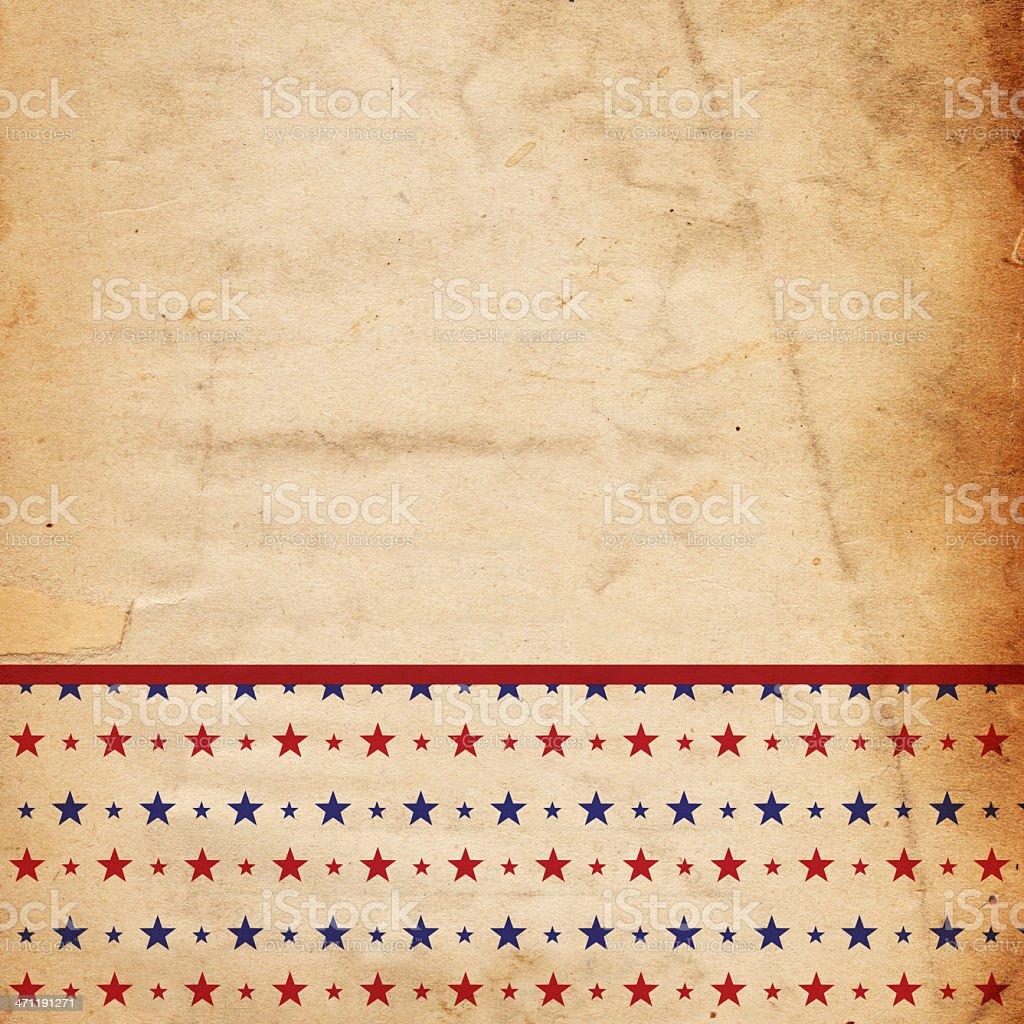 Patriotic Star Paper XXXL stock photo