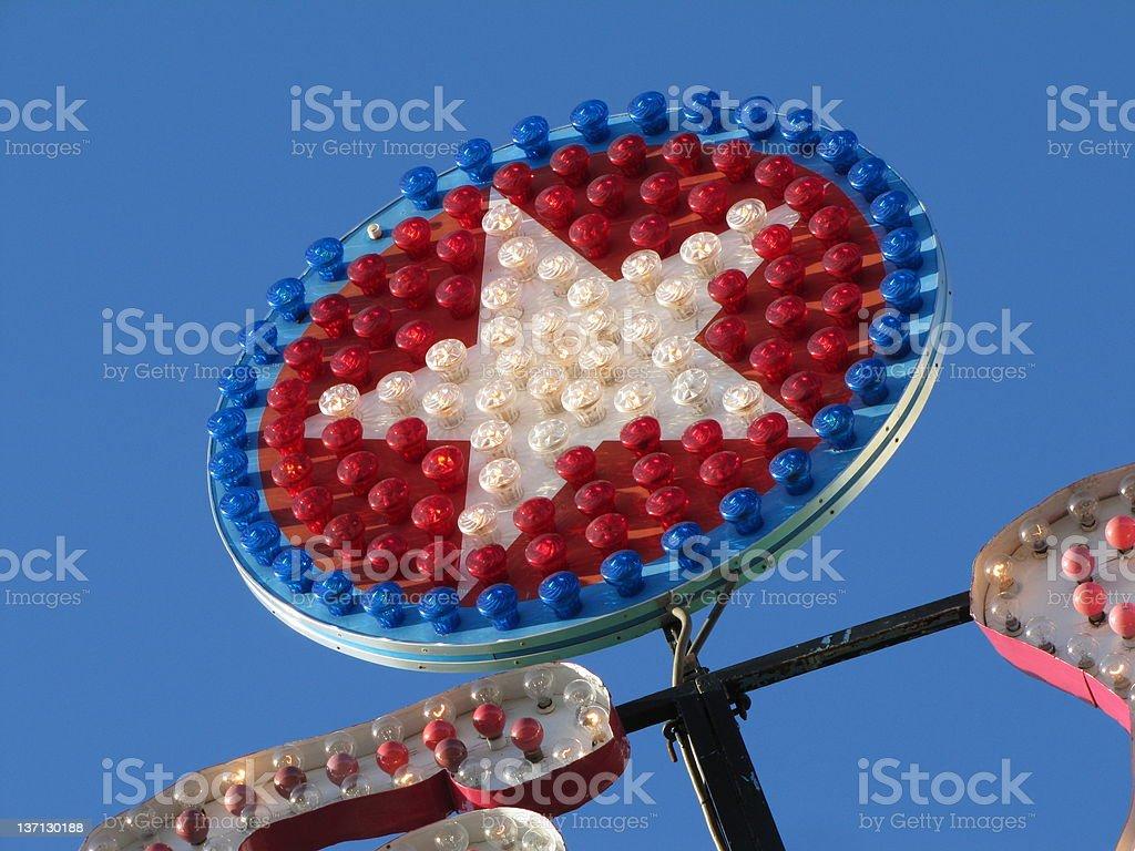 Patriotic star stock photo