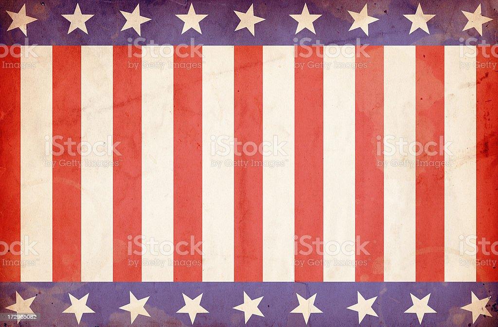 Patriotic Stars and Stripes Background: XXXL Grunge Paper stock photo