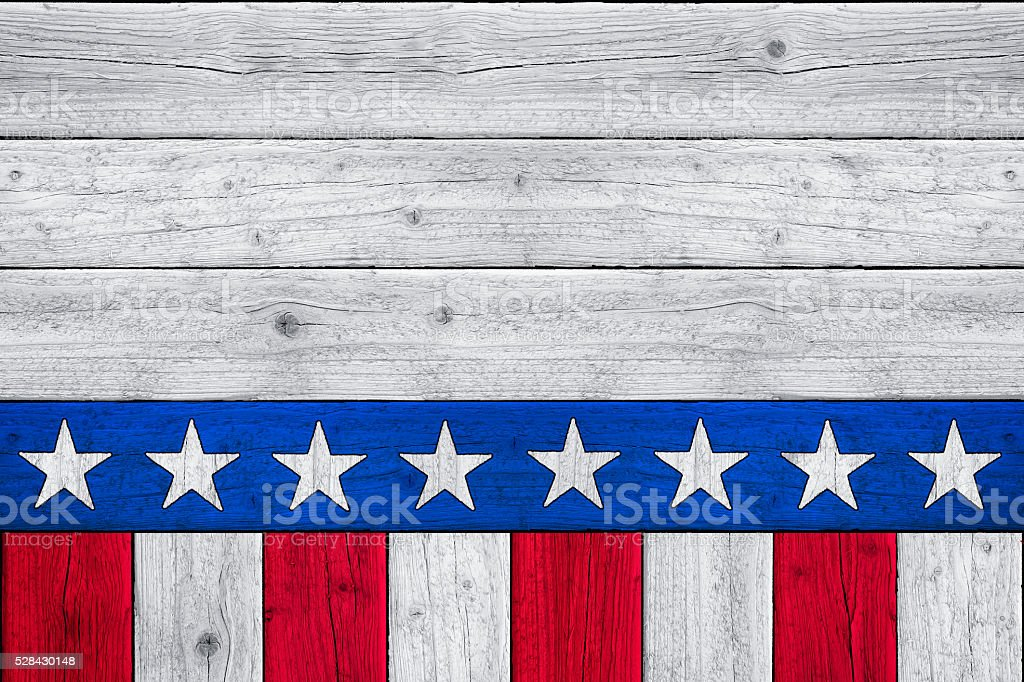 Patriotic Stars and Stripes Old Glory Background (SEAMLESS) stock photo