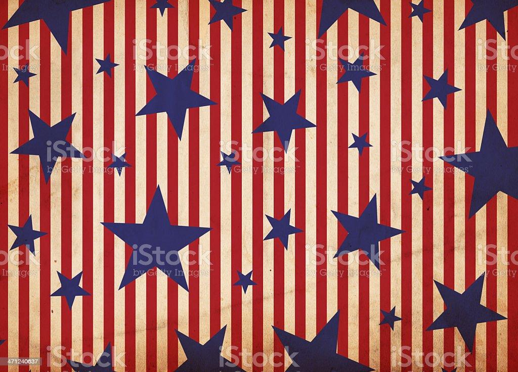 Patriotic Stars And Stripes Paper - XXXL royalty-free stock photo