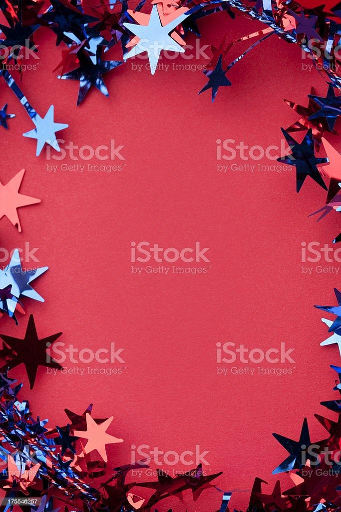 Patriotic Stars Background royalty-free stock photo
