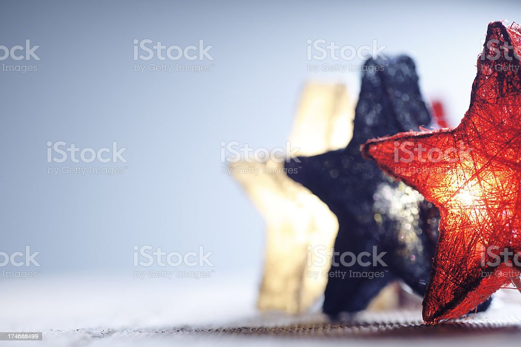 Patriotic Stars stock photo
