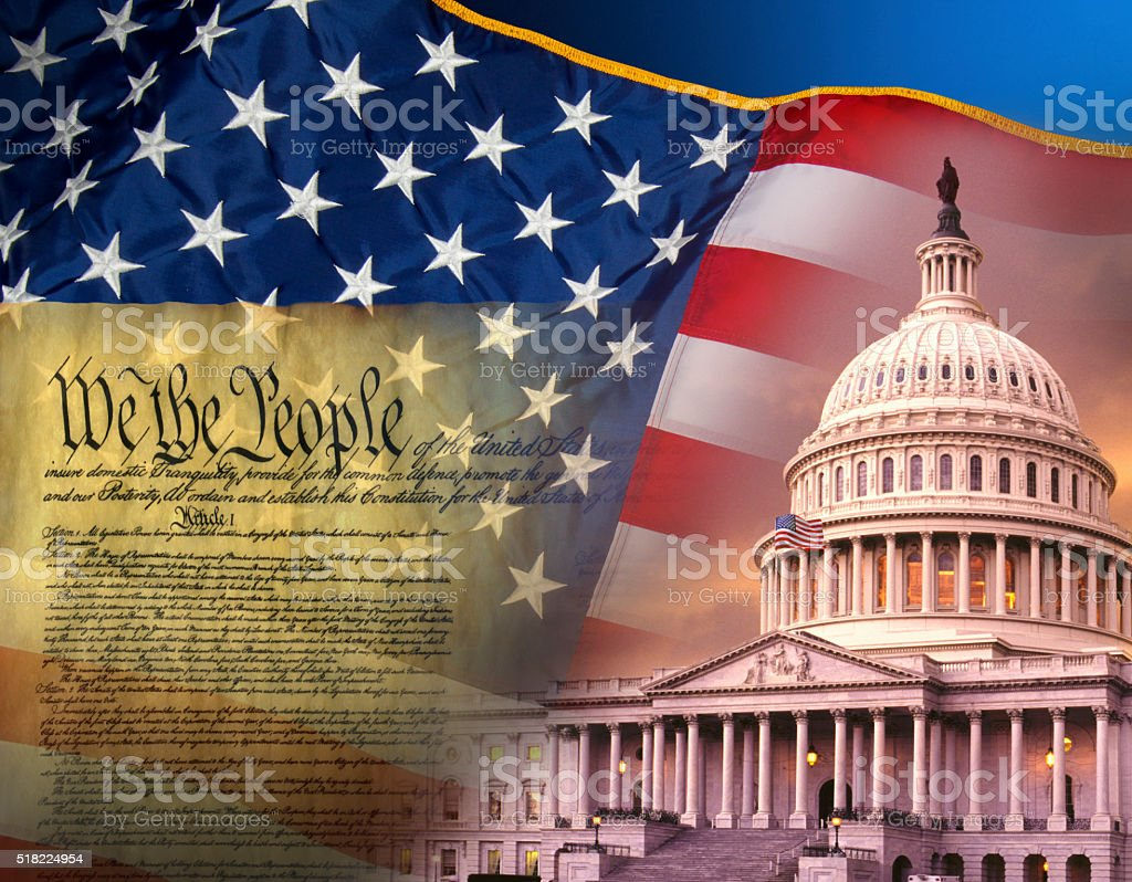 Patriotic Symbols - United States of America stock photo