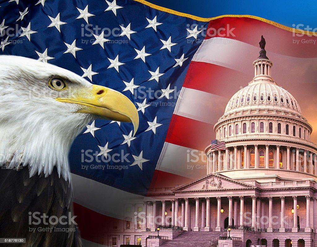 Patriotic Symbols - United States of America stock photo