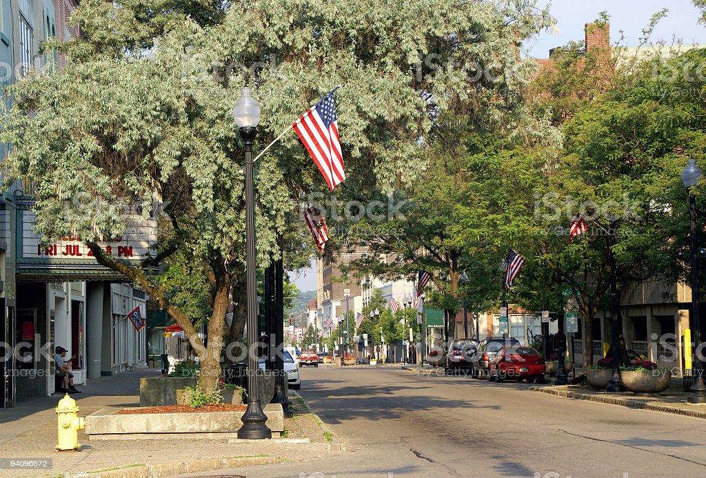 Patriotic Town stock photo