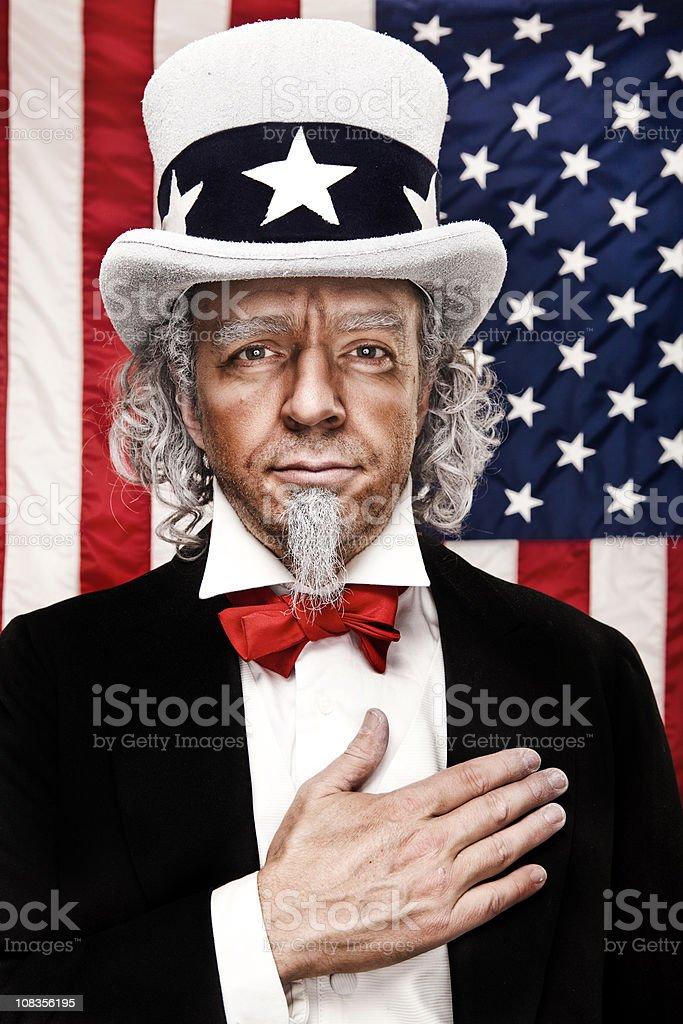Patriotic Uncle Sam stock photo
