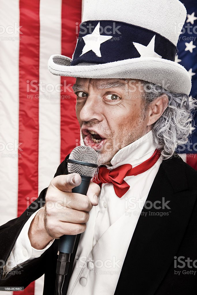 Patriotic Uncle Sam Wants YOU! stock photo