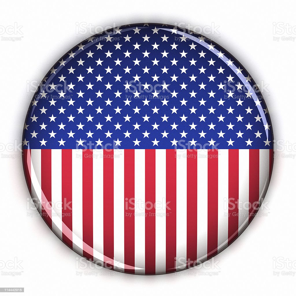 Patriotic USA button royalty-free stock photo