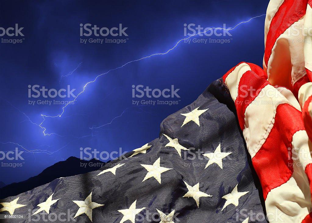 Patriotic USA power background stock photo