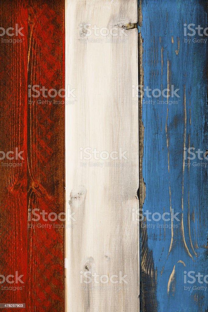 Patriotic Wood Background stock photo