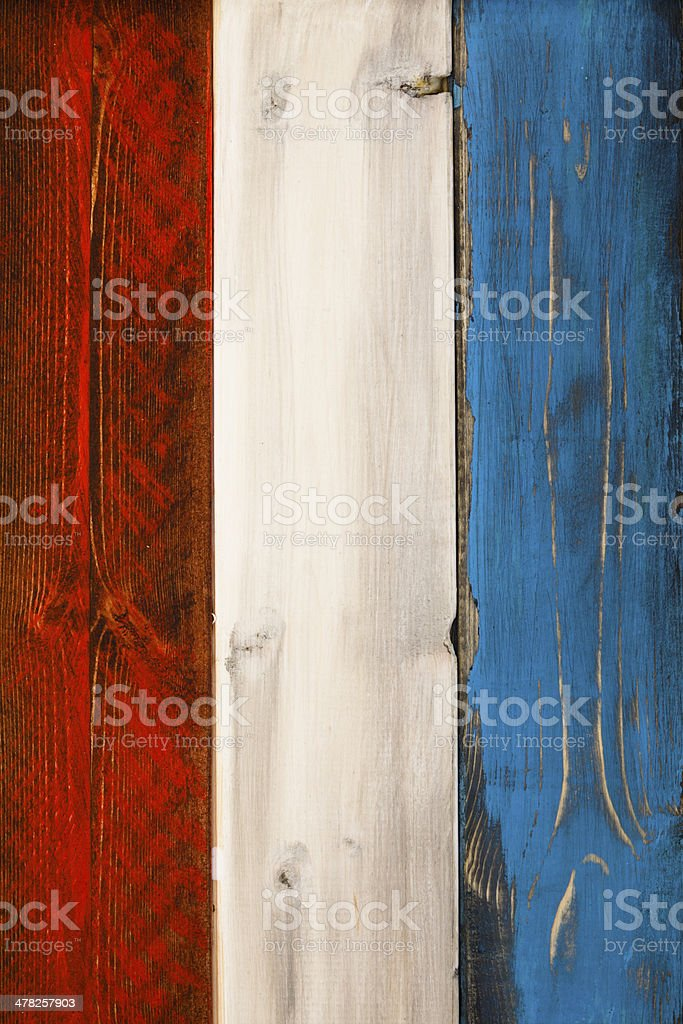 Patriotic Wood Background stock photo