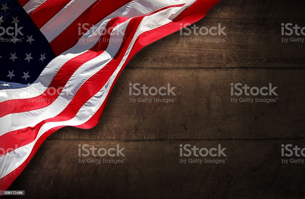 USA patriotic Wood Background stock photo