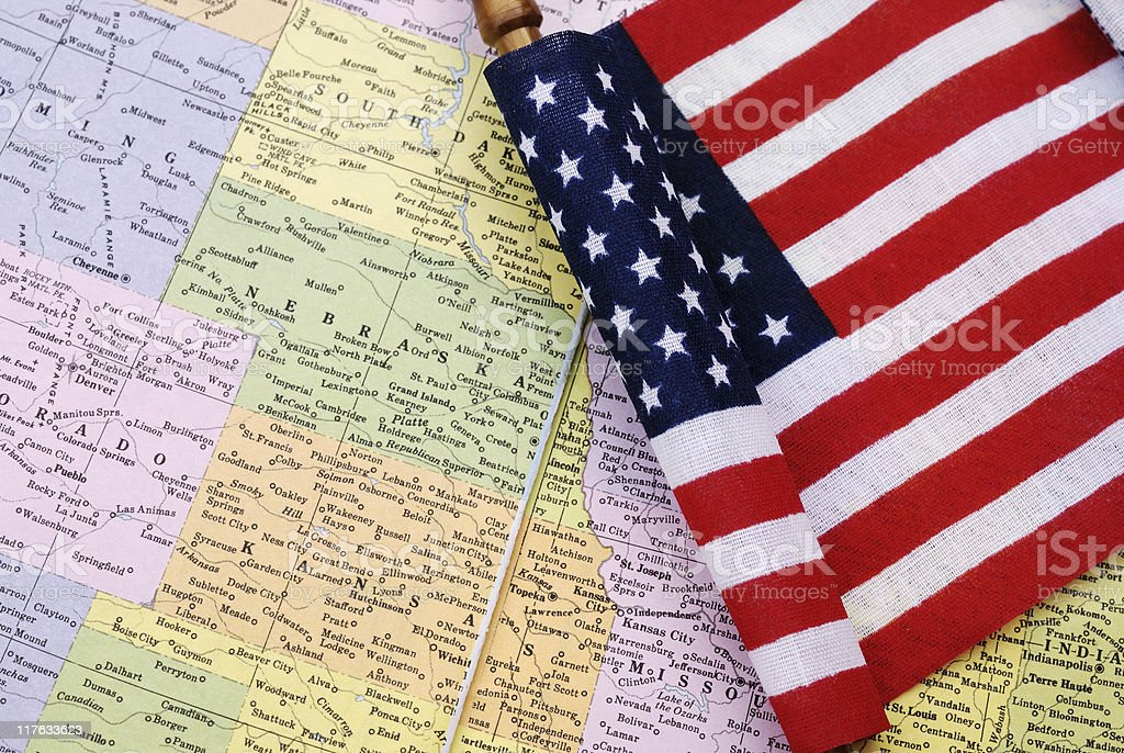 Patriotism in the heartland royalty-free stock photo