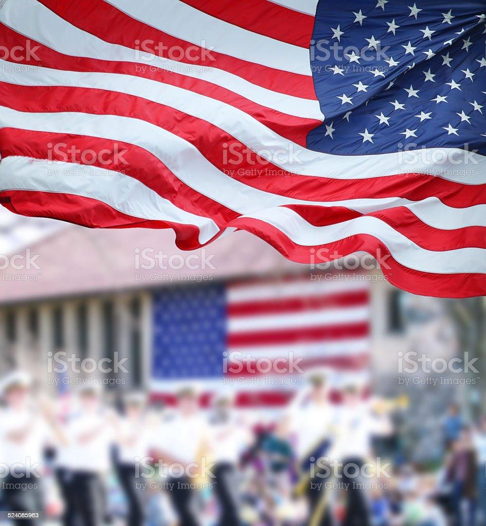Patriots Day Parade stock photo