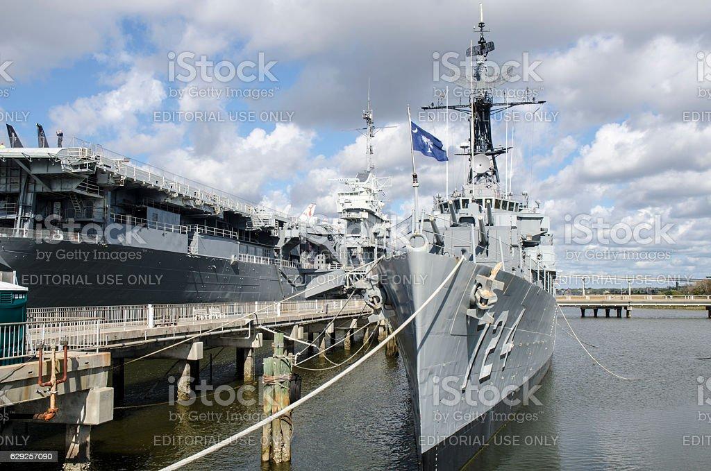 Patriots Point Naval and Maritime Museum, Charleston, South Carolina stock photo