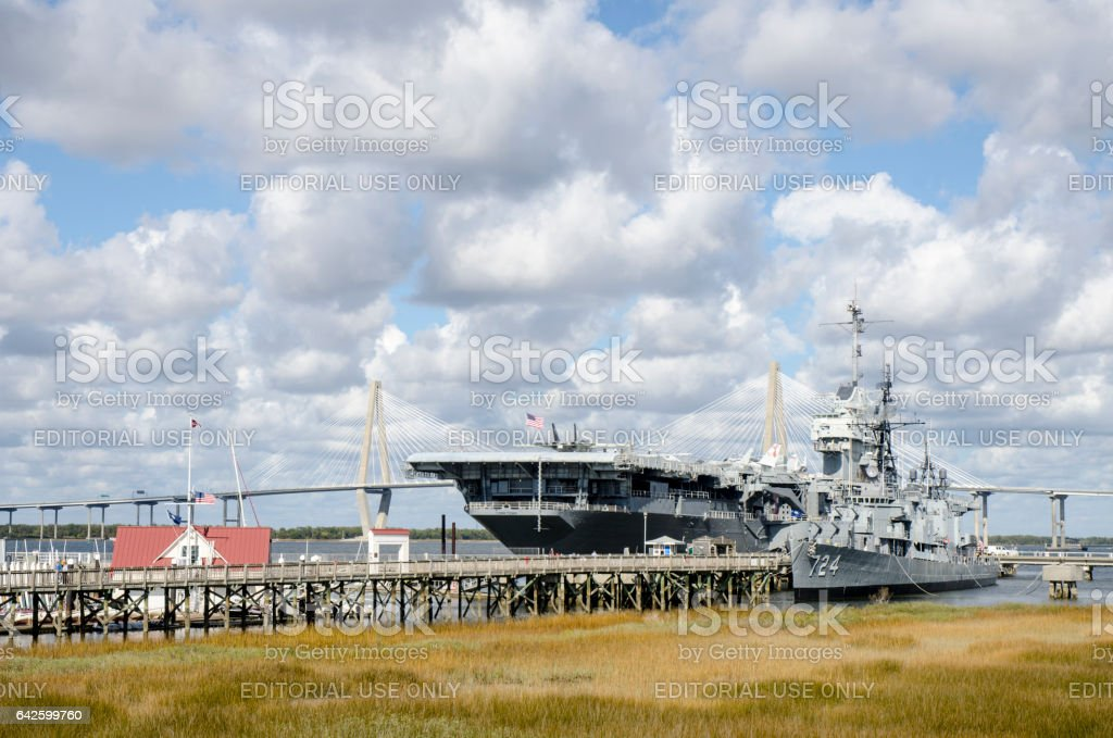Patriots Point Naval and Maritime Museum, Charleston, South Carolina stock photo