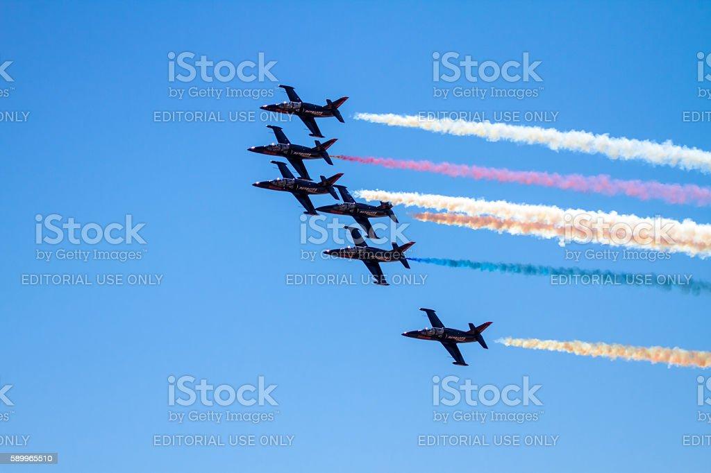 US NAVY Patriots Squadron stock photo