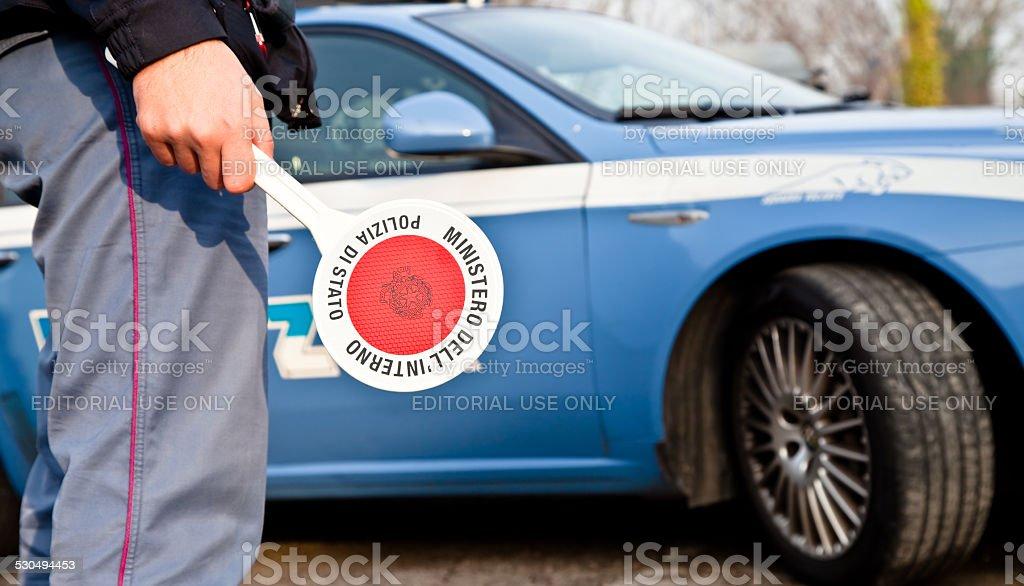 Patrol car stock photo