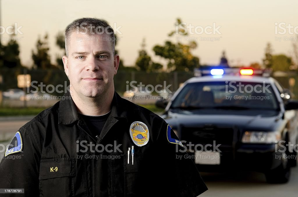 Patrol officer stock photo