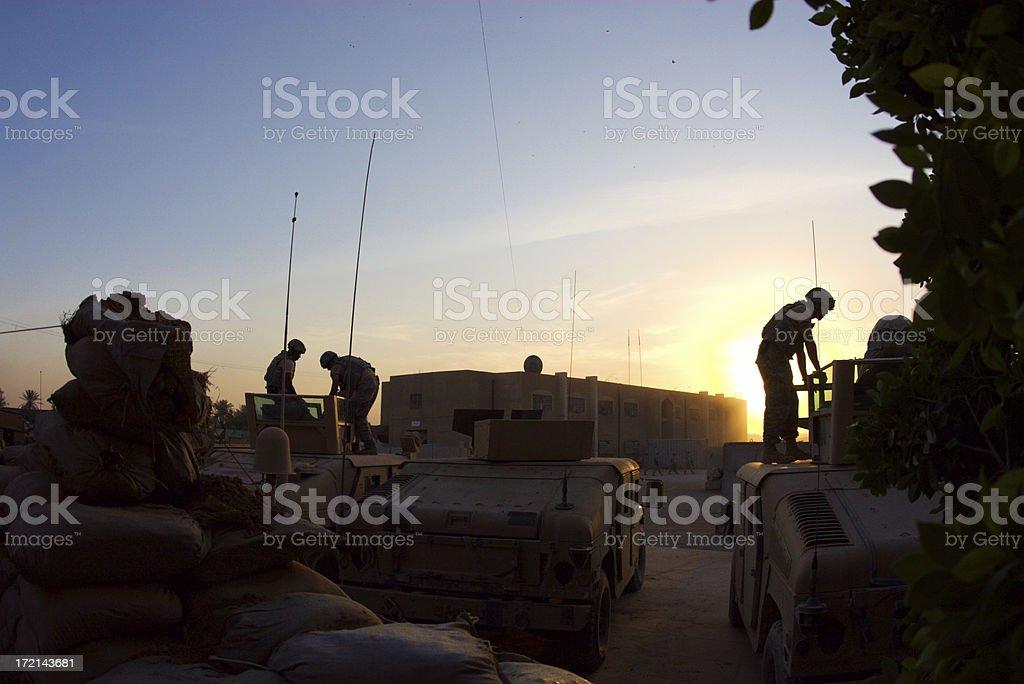 HMMWV Patrol stock photo