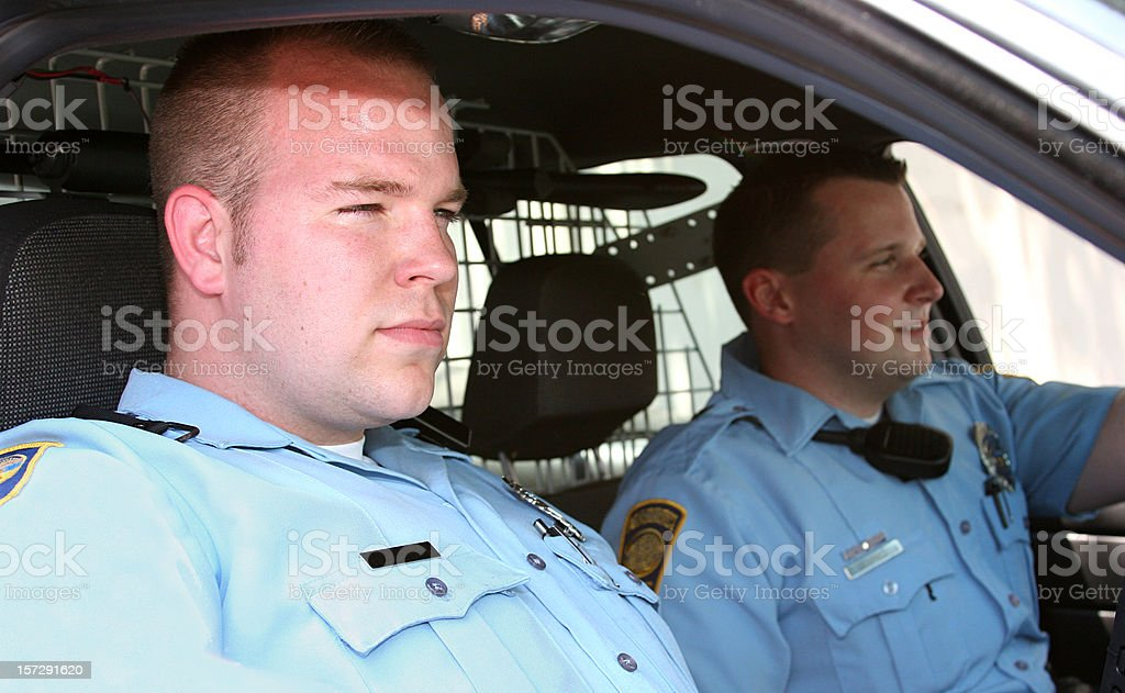 Patrolling stock photo