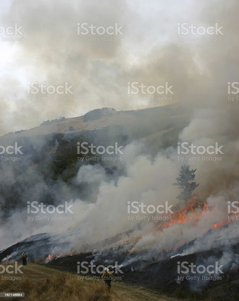 Patrolling the fire #1 royalty-free stock photo