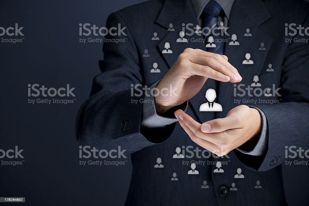 Patron and leader concept stock photo