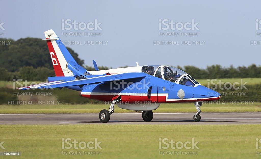 Patrouille de France aerobatic display team royalty-free stock photo