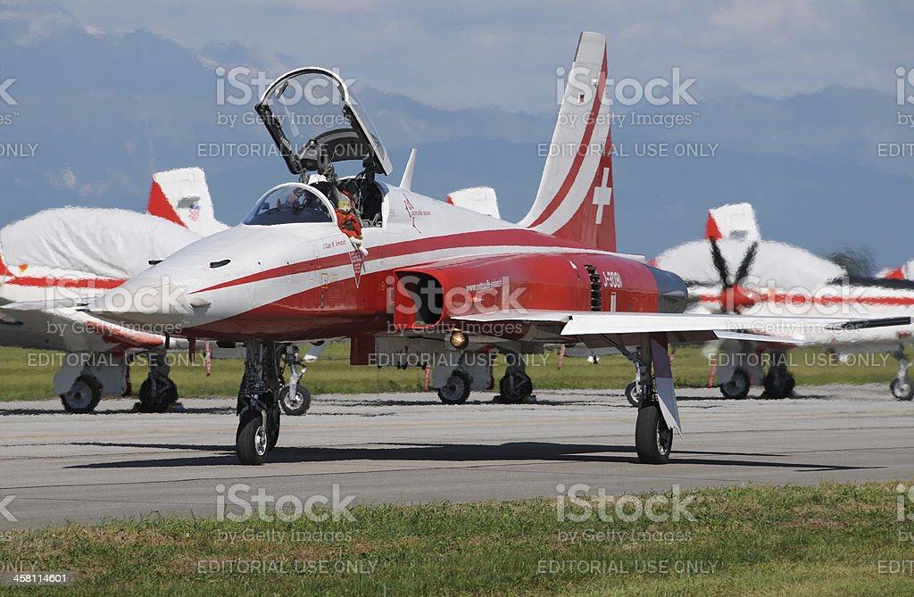 Patrouille Suisse royalty-free stock photo