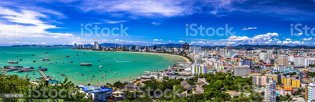 Pattaya Bay. stock photo